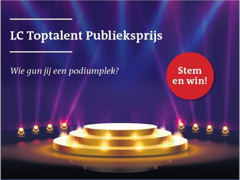 LC Toptalent Publieksprijs, stem op ons!