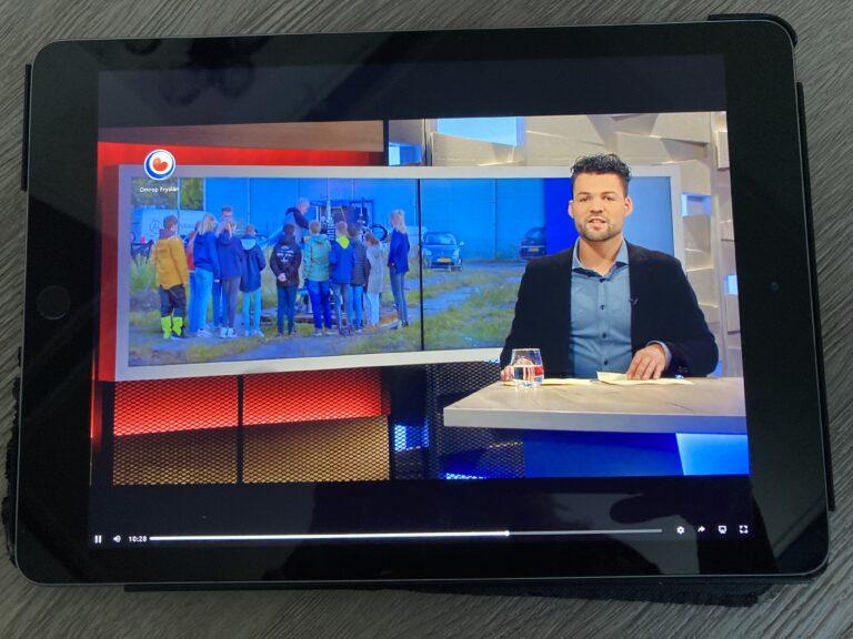 Leerlingen FS in uitzending Omrop Fryslân